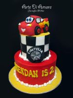 Cars Cake by ArteDiAmore