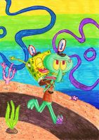Carry me, Squidward by Xintongeography