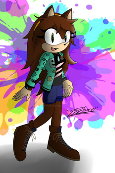 Andrea the hedgehog (AndreaPlayed12) by NikolayAkron