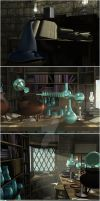 Wizard's Study: 2 of 3 by NightsongWS