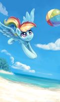 Playing Beach Ball by KP-ShadowSquirrel