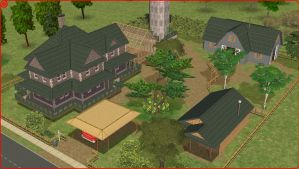 Sims2 Old silo farm by RamboRocky