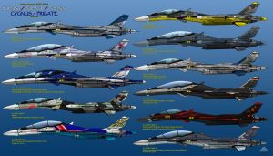 IFX Project - IFX-35 Cygnus - Special Liveries by haryopanji