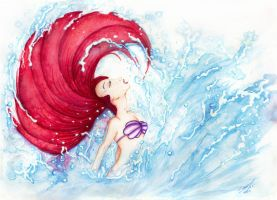 Ariel Becomes Human - Little Mermaid by Susaleena