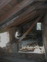 Ruins stock 15 old attic by Finsternis-stock
