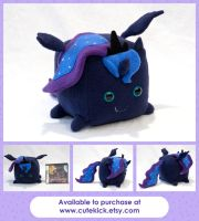 Princess Luna Cube Pony by cutekick