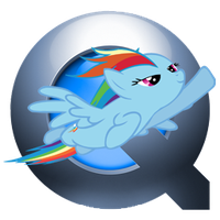 Quicktime - Rainbow Dash : OSX icon v2 by glitch452