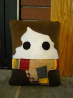 Tom Baker 4th Doctor Pillow by Telahmarie