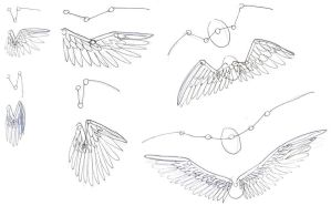 How I draw Wings by addictedtopunk