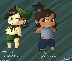 Baby Tahno and Korra by Snowflake-owl