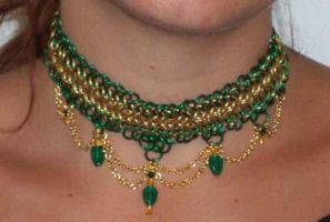 Elven Moss necklace by enchantress13