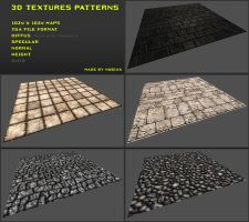 Free 3D textures pack 06 by Nobiax
