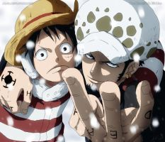 Law and Luffy by AR-UA