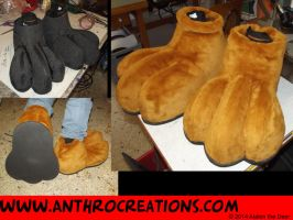 3 Toe Furry Paws - New design by AtalontheDeer