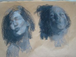 Tonal drawing - pastels by alegreghi