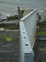 Fence into the sea by photohouse