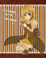 Churros with Chocolate Gijinka by Mara-n