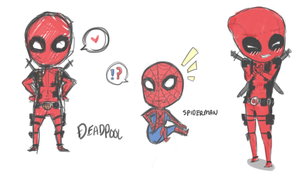 Deadpool and Spiderman by Outside-Box
