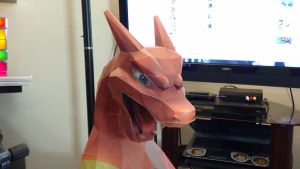 Pokemon Charizard Papercraft Commission 3 by devastator006