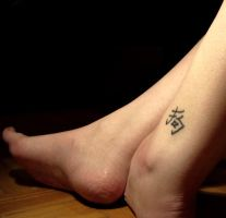 ankle tattoo by bricket