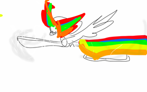 sonic rainboom ( partly colord) by gravityfallsandstuff