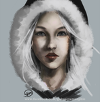 Redraw of snow woman by Romille