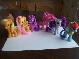 Re-styled My Little Pony figures by jaime912