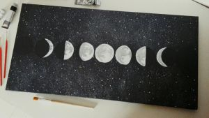 Lunar Phases by TheWolfyy