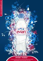 evian water ad by razangraphics