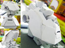 Exomech Machina Warpig f-armor by PaperBot