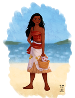 Moana and Pua by Tuffuny