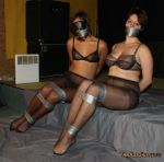 Lizbeth and Frida-Sol : all sheer and tape. by PhMBond