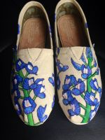 Custom Painted flower toms #2 by dannyPs-customs