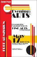 Evening of Arts Poster by wastingtape