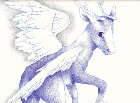 Winged Reindeer... by RayQuaza005