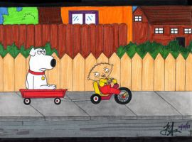 Stewie and Brian by DirtyD41