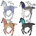 Old Peafrie Foal Designs by Jyynxx