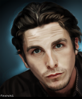 Christian Bale - digital painting portrait by fawwaz1