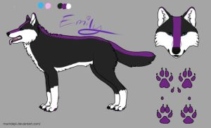 Emily's ref sheet  by Darth-Emily