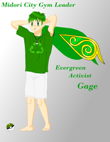 Midori City Gym Leader: Gage by Komali100