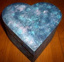 Celestial painted wooden box by TashaAkaTachi