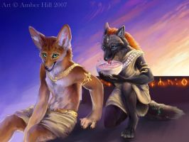 Sharing Water, Colore by vantid
