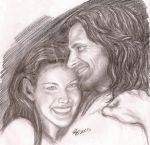 Arwen and Aragorn by rstrider9