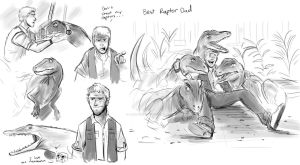 Best Raptor Dad by animegirl43
