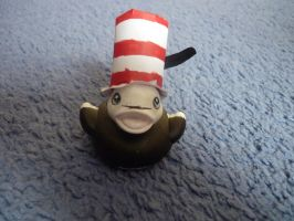 Cat in the hat duck by ShayeraLee