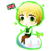 Commission: Chibi England by Kohane-hime