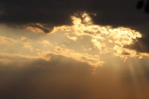 Sunset Gold Clouds Stock 2 by BeccaB-323-STOCK