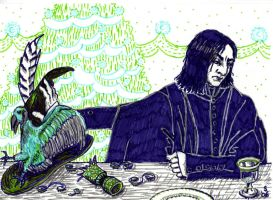 Snape at Christmas by penguin2006