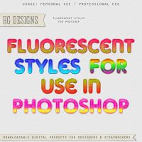 Fluorescent Layer Styles by HGGraphicDesigns