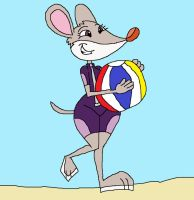 Thea's Cute Beach Pose by HunterxColleen